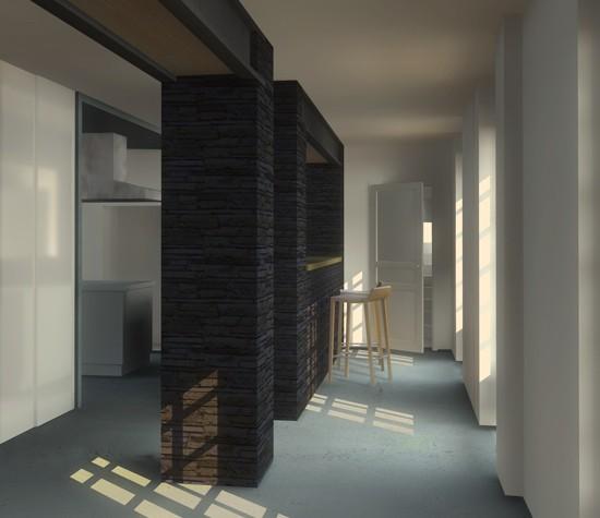 rénovation d'un manoir, aménagement intérieur
